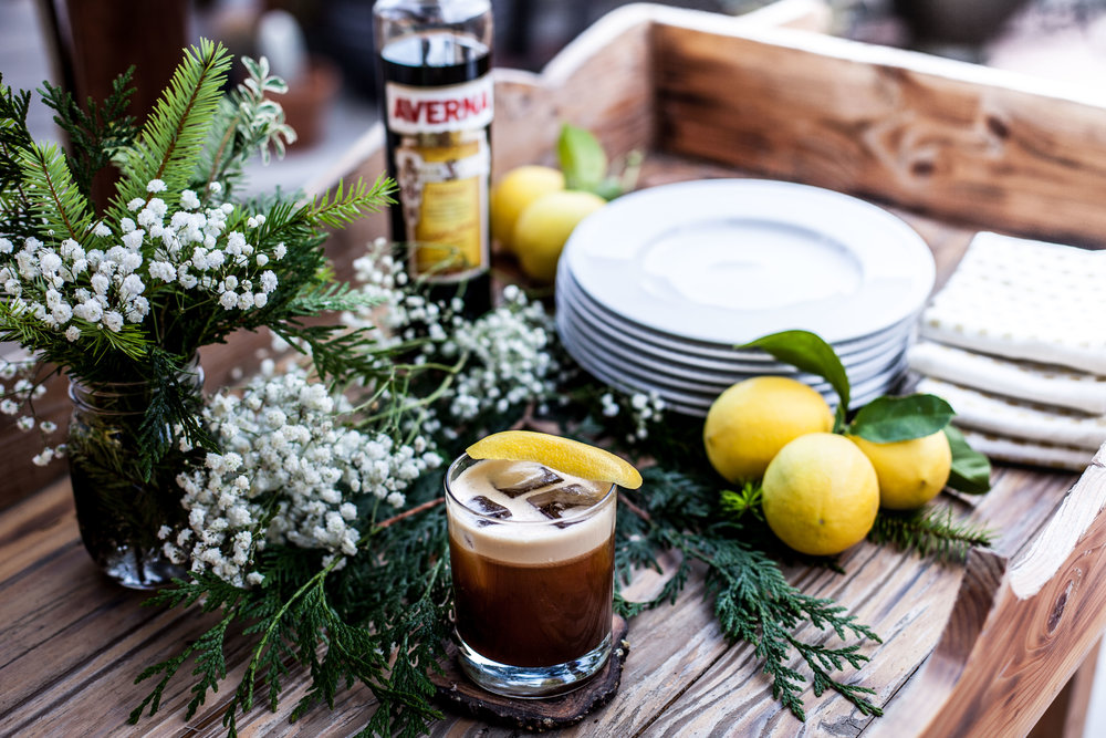 Averna Sour: Amaro, Bourbon, Lemon, Simple Syrup, Egg White