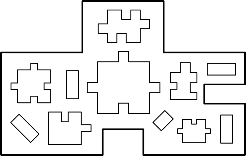 This map was built using 7 puzzle shapes, including the boundary.