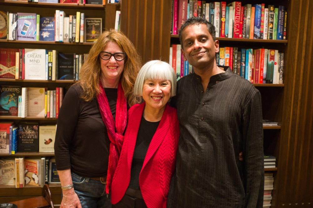 Charlotte, Judy Fong Bates & Shyam Selvadurai at Ben McNally Books