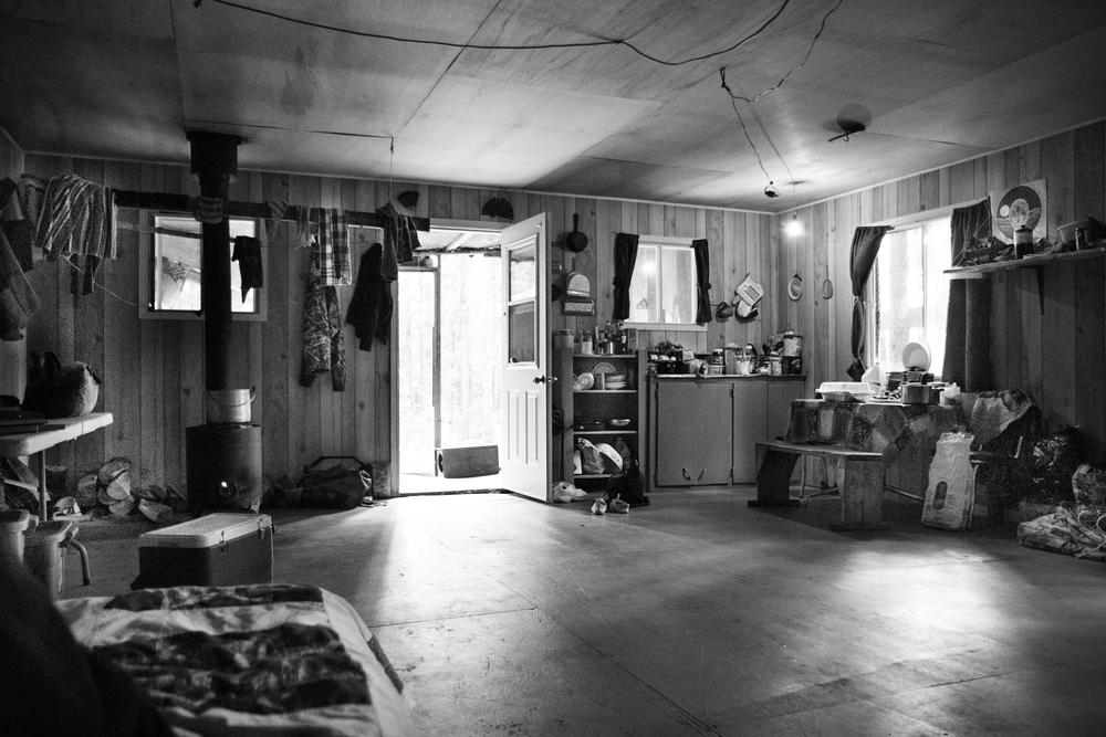 Une cabine de camp de chasse, près de Waswanipi