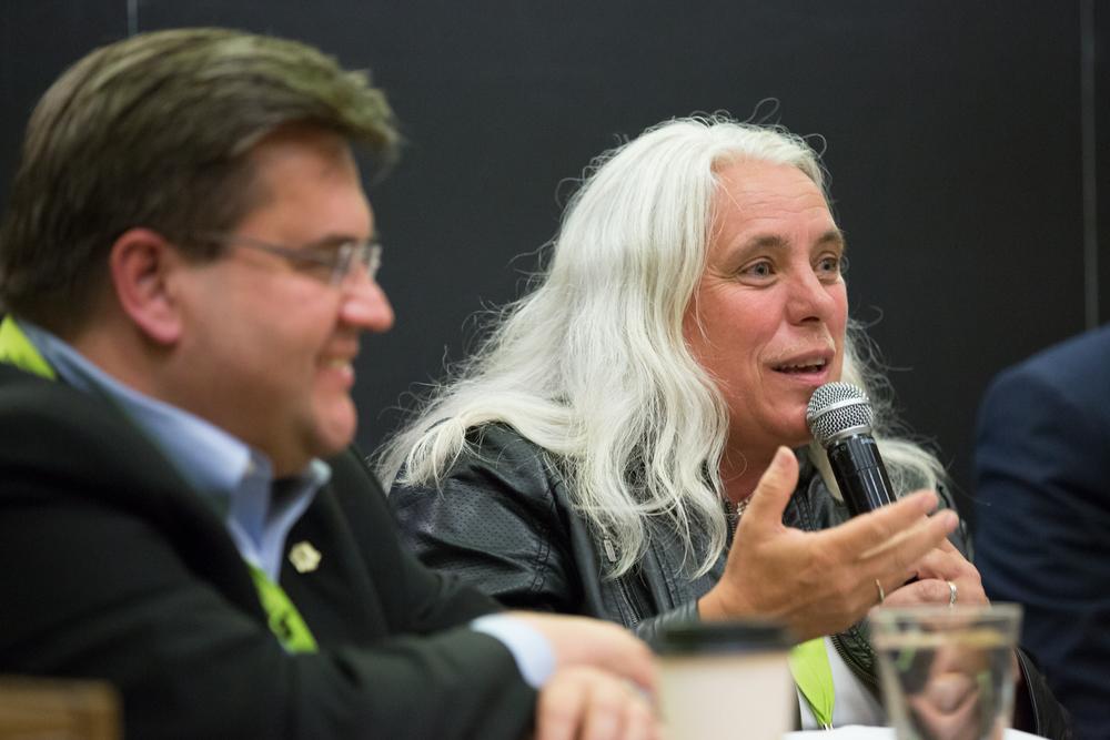 Manon Massé, députée de Québec solidaire de Sainte-Marie-St-Jacques.