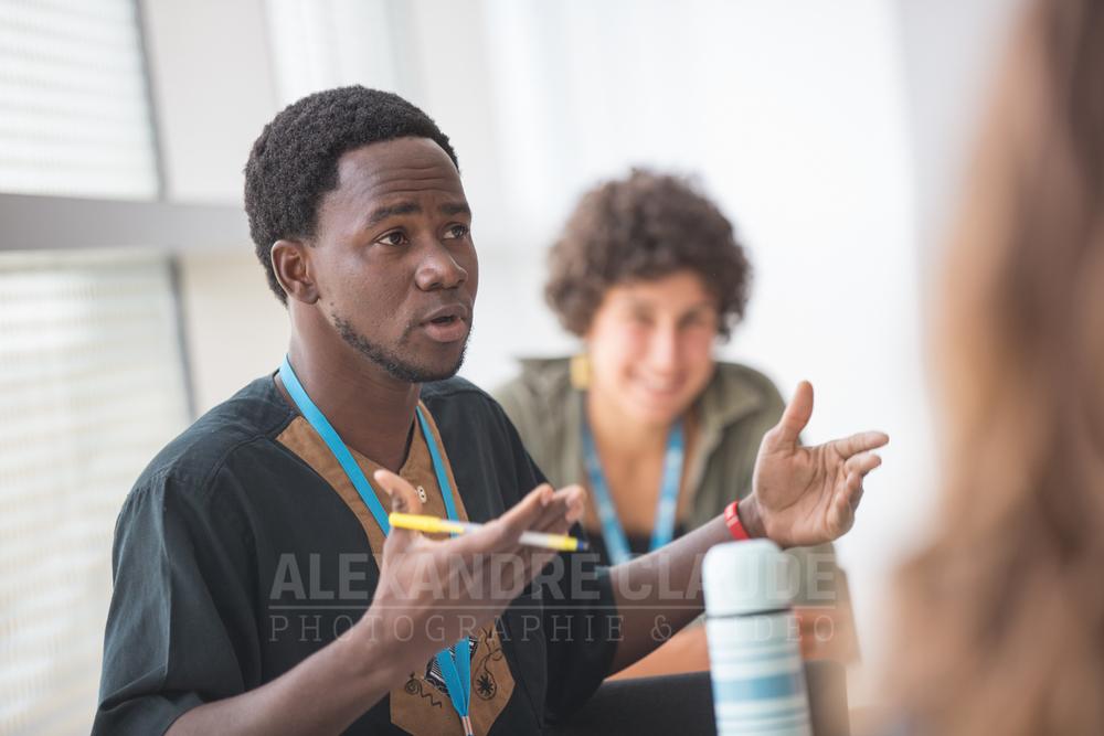 Participant à l'atelier « Notre système judiciaire est-il discriminatoire?».