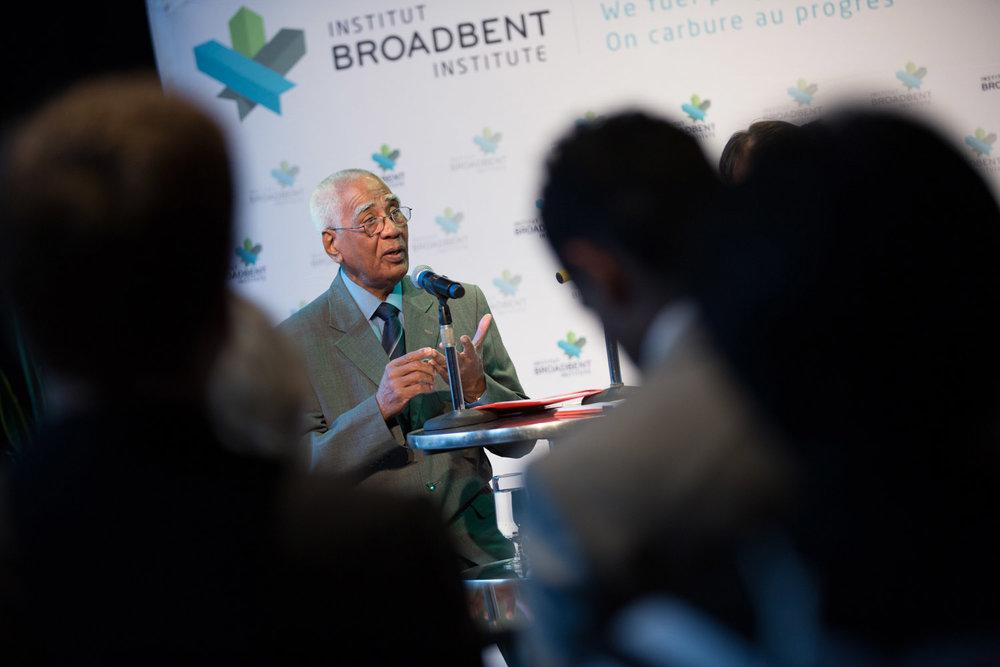 Événement de lancement de l'Institut Broadbent au Québec, le 18 juin 2015.