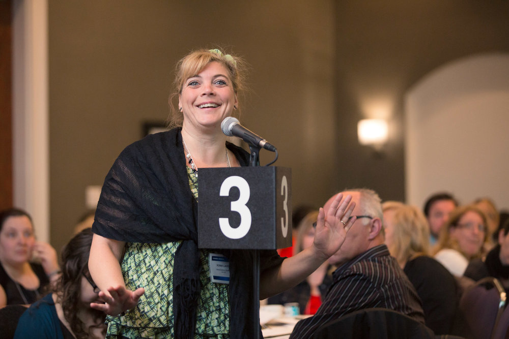 Photo lors d'un congrès