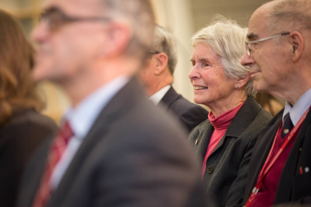 Guests attend the 2014 Eakin Lecture by Michael Burgess