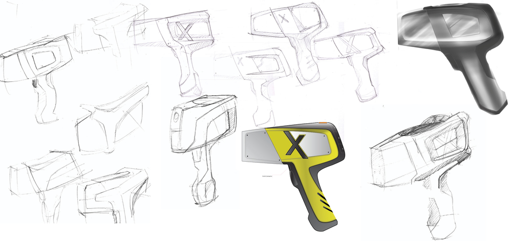 Process:  Early sketches of the XRF