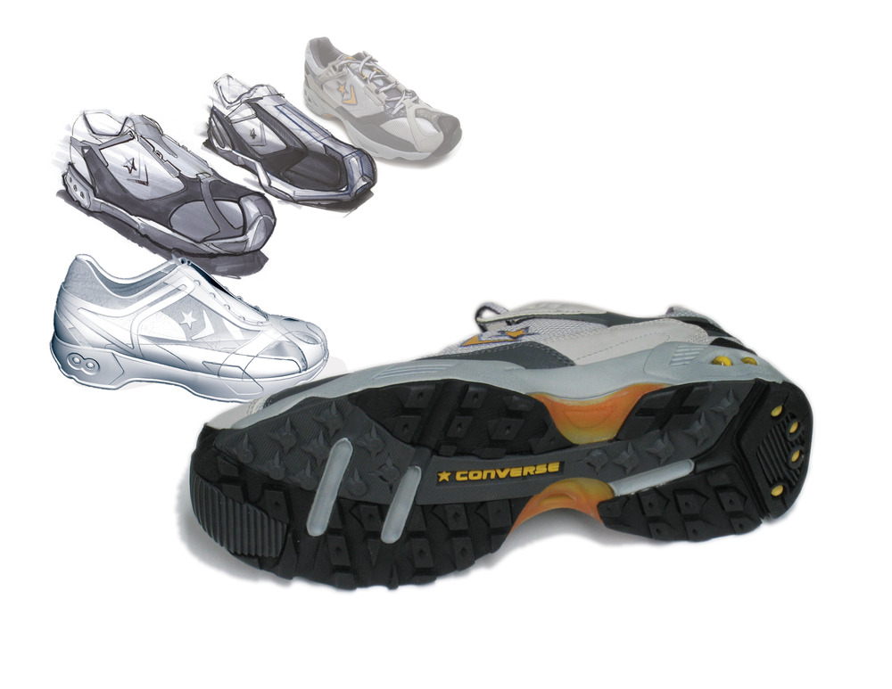 Computer Aided Design:  The T-T is one of the first design programs to evolve from the Z-Corp and Freeform system I started at Converse. The 3D modelling process has revolutionised shoe design at the company.