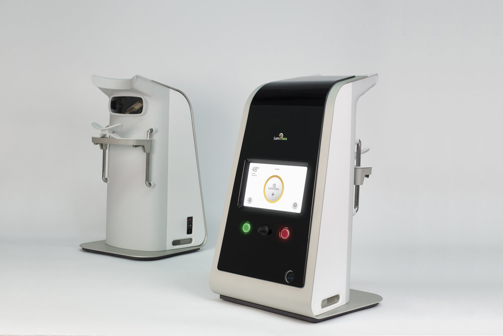 UX, UI, AND ID  The L300 design speaks to it's revolutionary treatment. Among it's peer devices this L300 is more inviting, and it's user interface is sophisticated and user oriented.