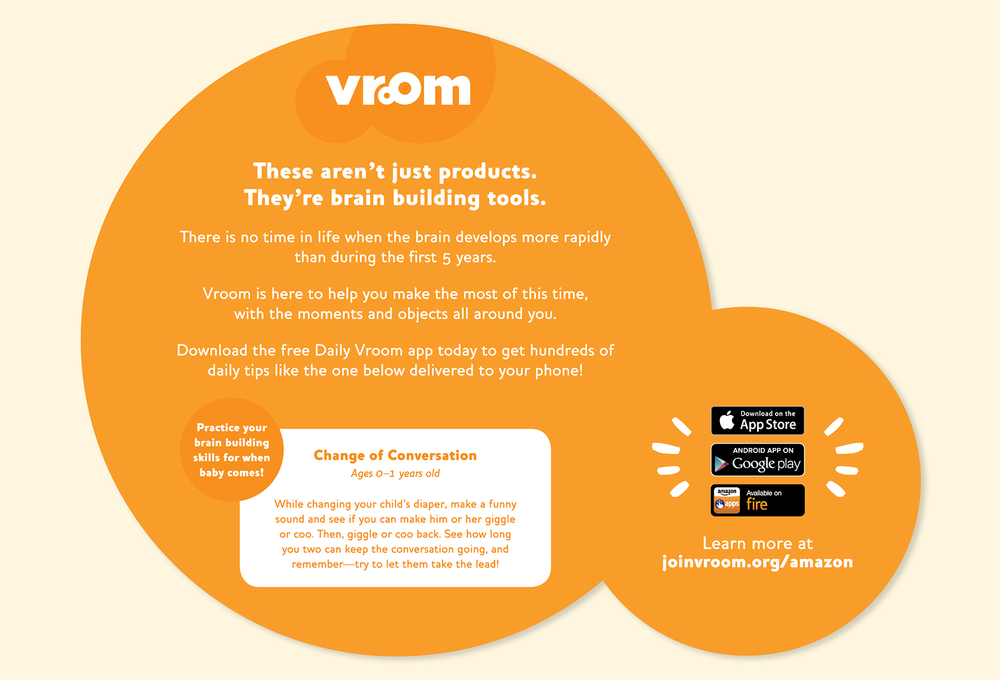 Vroom + Amazon Mom Baby Registry Box Inset  Back