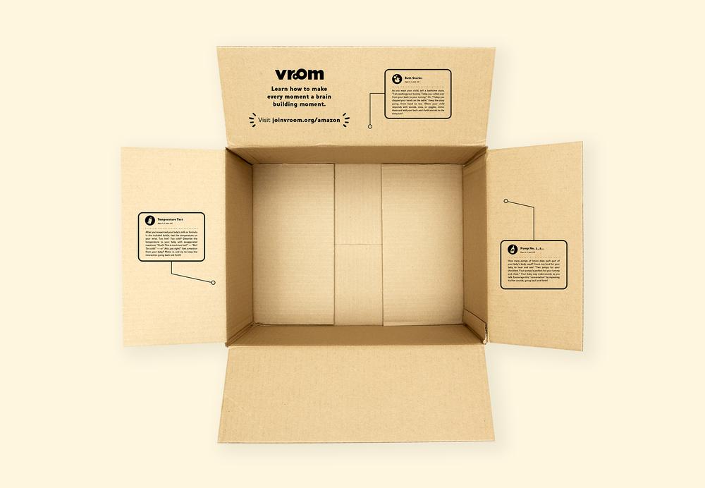 Vroom + Amazon Mom Baby Registry Box  Interior