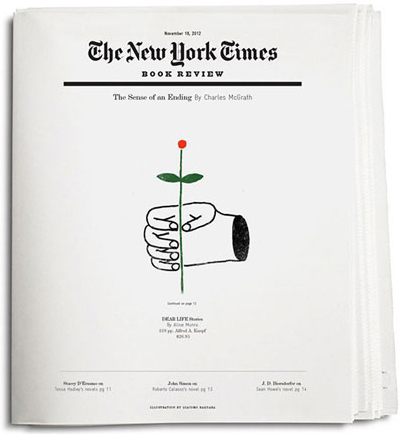 NEW YORK TIMES BOOK REVIEW COVER PRINT / TYPOGRAPHY