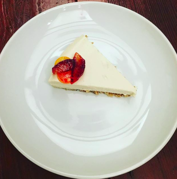 Cashew Cream Raw Cheesecake with Blood Orange & Cumquat