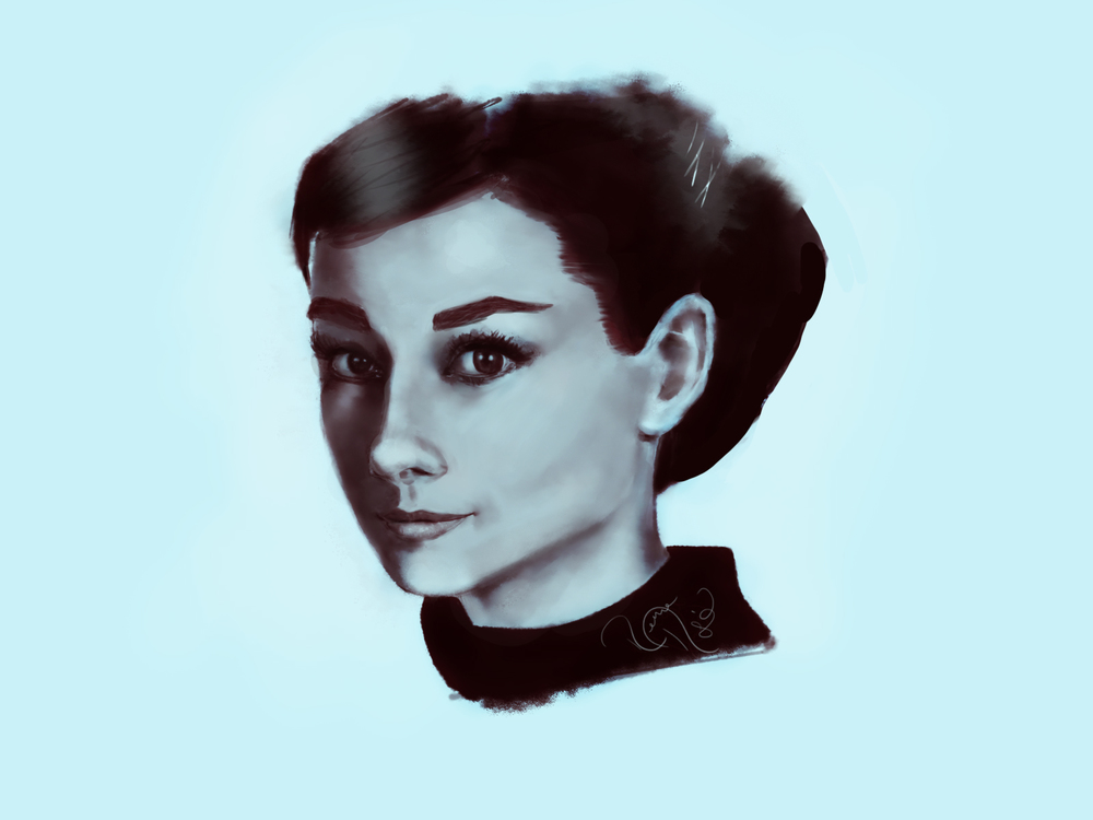 Portrait of Audrey Hepburn <3