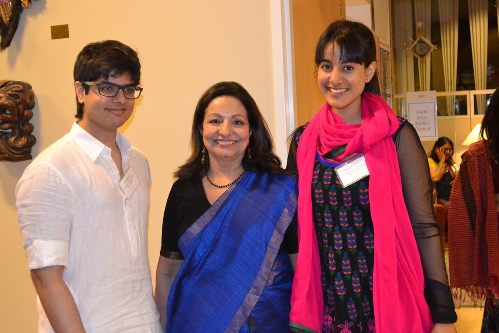 Sanat Khurana (left), Seema Khurana (center), Ipsitaa Khullar (right)
