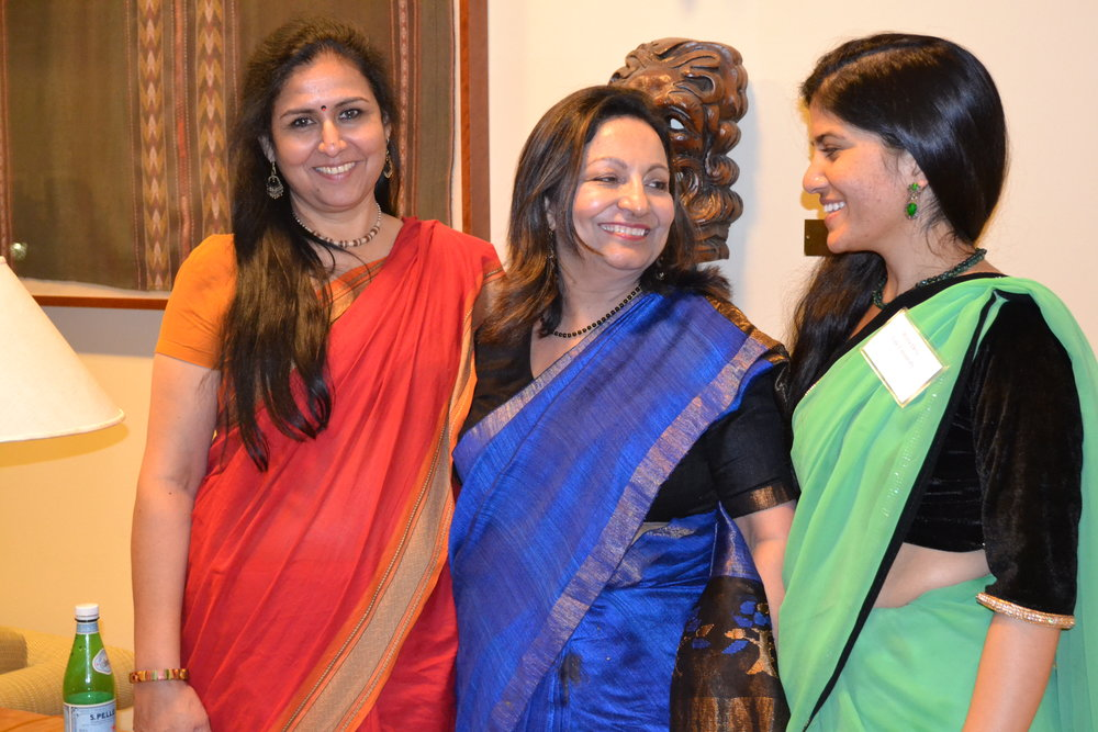 Swapna Sharma, Senior Lector (left); Seema Khurana, Senior Lector (center); Reeta Devi - Fulbright FLTA (right)