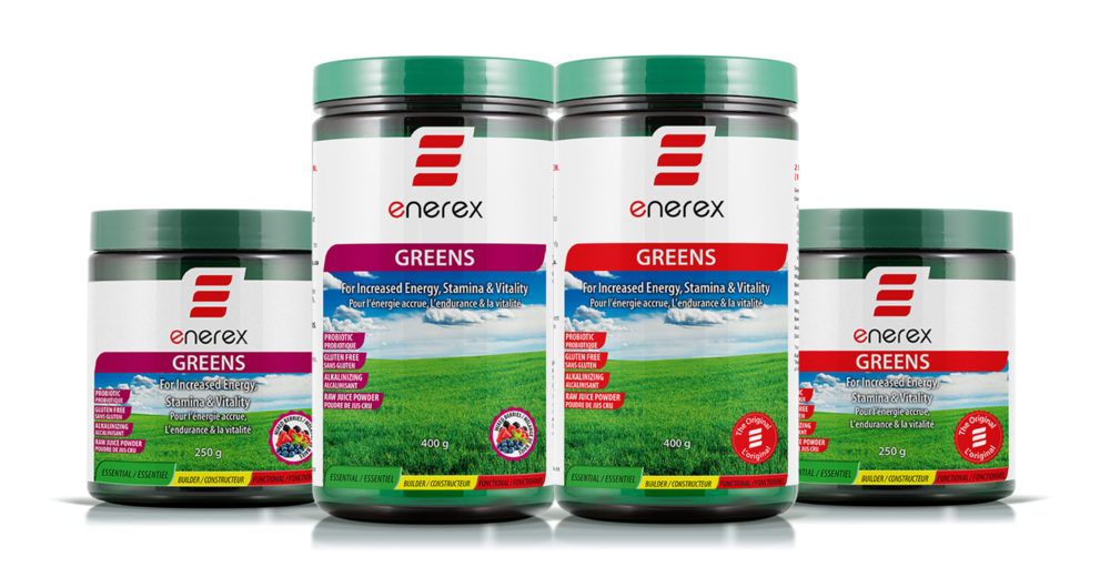 On sale in our flyer this month 250 - 400 g Enerex Greens!  Gluten free , raw , certified organic, and packed with antioxidant whole foods these greens pack a punch! Many benefits such as anti-inflammatory, immunity boosting and even added probiotics these greens have you covered from gut health to brain health, all over!