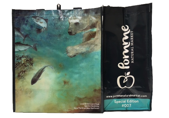 "Special Edition Community Art Bag #007 Laura Doell, ""Spirit in the Water"""