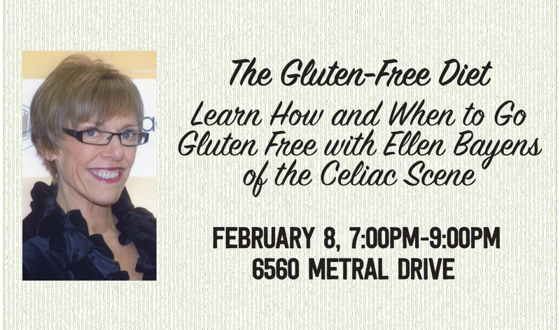 Sold-Out  Talk @ Nanaimo: The Gluten-Free Dietwith Ellen Bayens