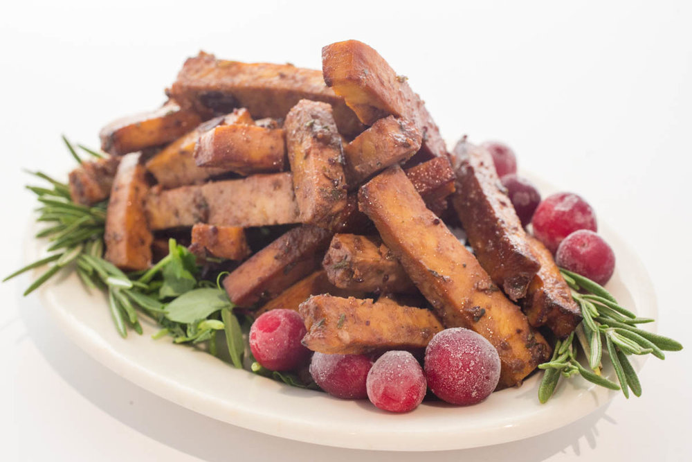 Tofusticks- come inBBQ, Cranberry and Sesame Tofu