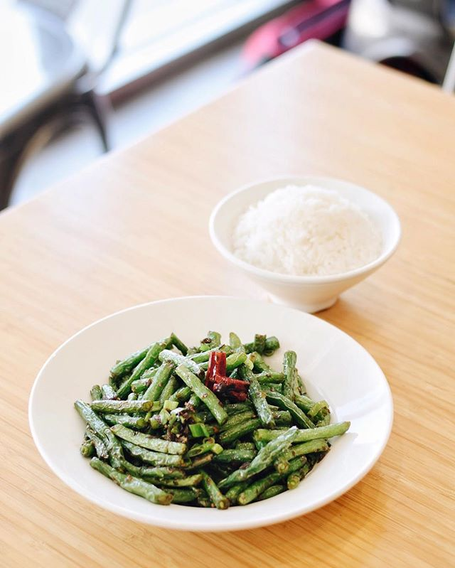 Sauteed Green Beans? Who wouldn't wanna give it a try? . . . #delicious #yummy #tasty #instafood #foodstagram #newmenu #upgrades #chinesefood #goodeats #laeats #ucla #westwood #phaat #treatyoself #realfood #nomnom #eeeeeats #koalatcafe
