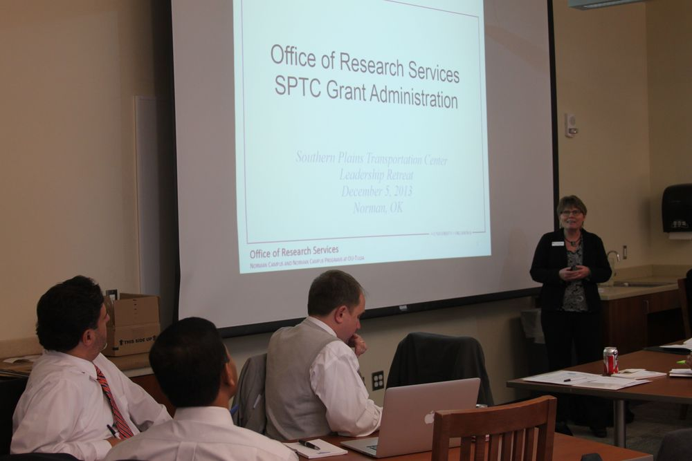Andrea Deaton, OU Assoc. VP for Research, explains the role of the Office of Research Services.