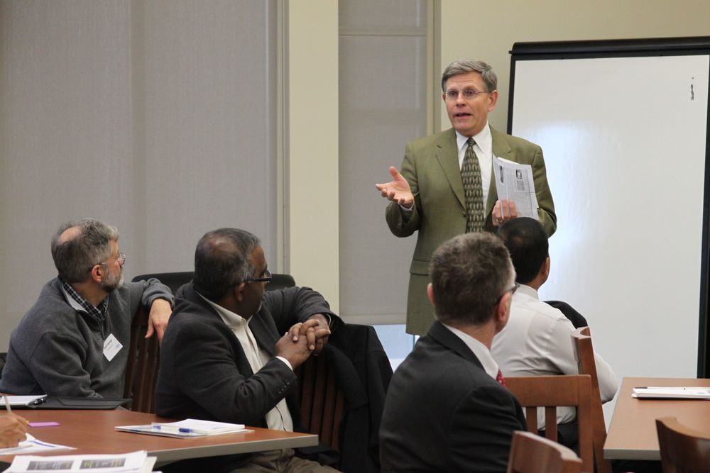 OU's VP for Research visits with consortium members.