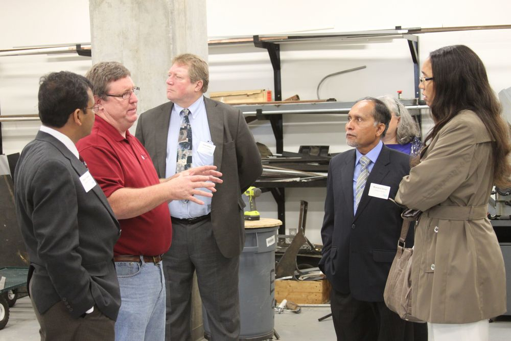 Guests visit the REPF machine shop.