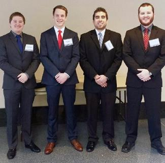 Figure 1 TLC members/competition winners include (from left to right): Jean-Paul Sandrock, Morgan Harris, Herman Velazquez, Dalton Champagne