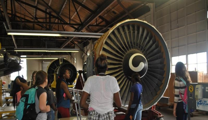 Figure 3: Visiting the Spartan College of Aeronautics and Technology