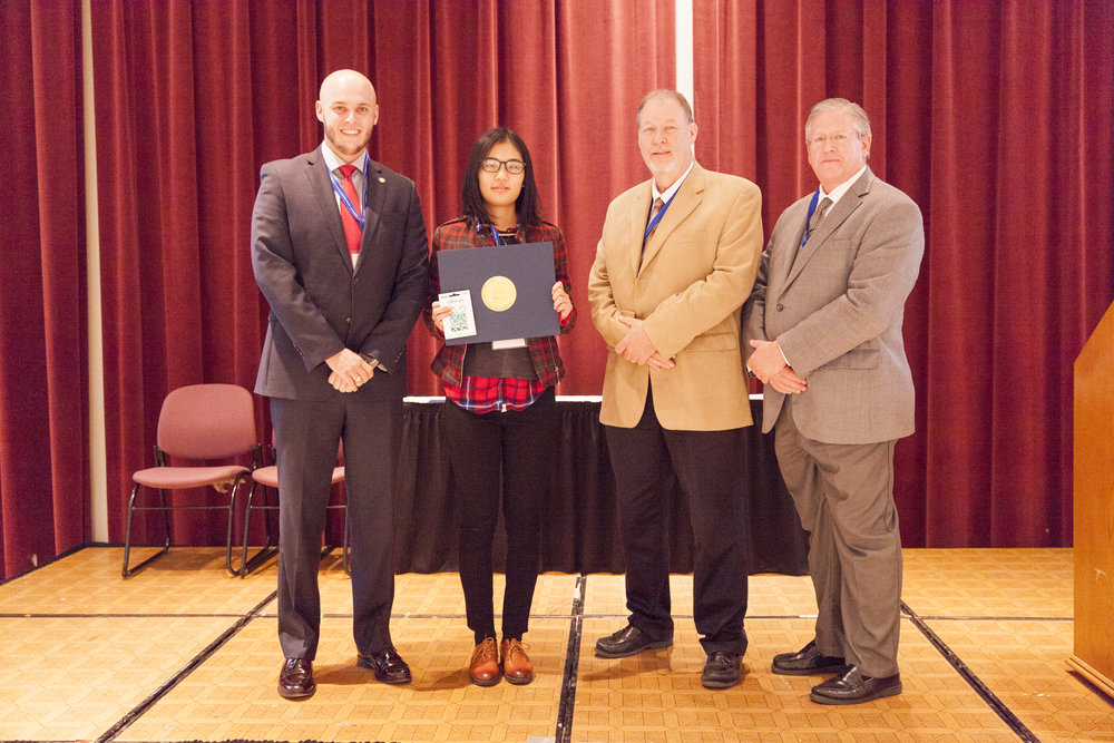 "Ning Lee – OSU - wins 2nd Place in the Oklahoma Transportation Research Day Poster Competition for her work titled ""Laboratory Test on Slab/Base Friction in Concrete Pavement""."