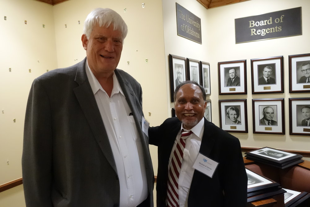 Kevin Suitor and Musharraf Zaman attending the Industry OUtreach and Open House event.