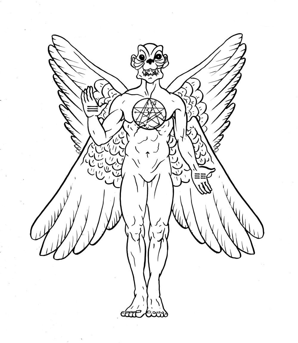 Ninzuwu ancestor Ninazu, later known as Pazuzu, and in Asia as the race of the Tengu, founders of the Art of Ninzuwu.