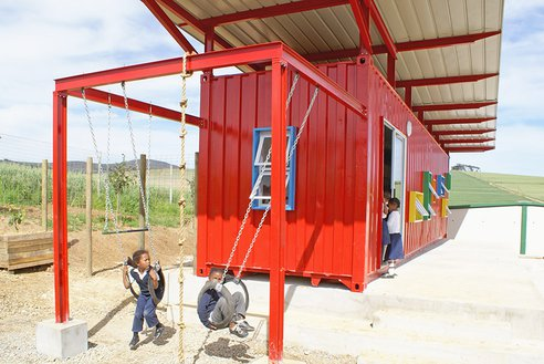 Example 2: The Vissershok Container Classroom by Tsai Design Studio