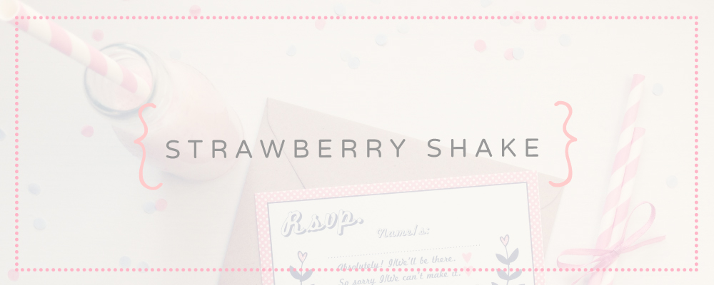 Strawberry Shake   Fun, Quirky & Vintage Inspired Wedding Stationery - Best Day Ever