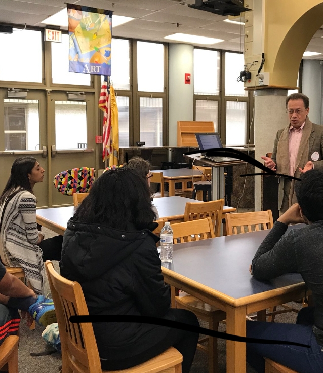digital literacy Workshop for students at lawrence high school, new jersey