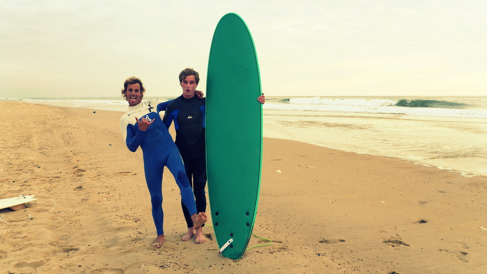 `Me and Sisco Disco Partizani before sunset surfing