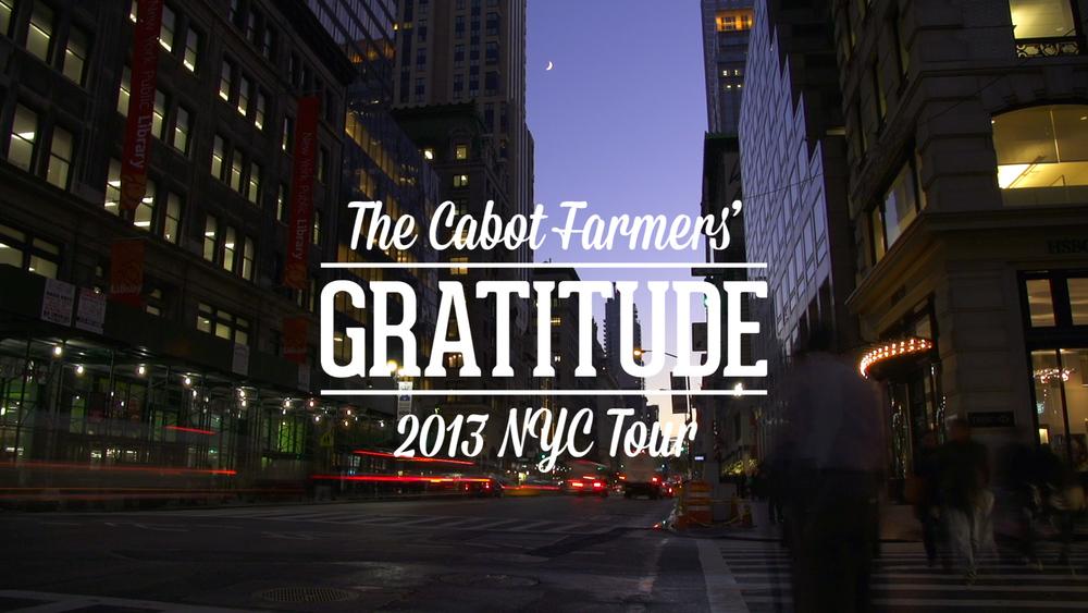 Gratitude Tour • Cabot Creamery
