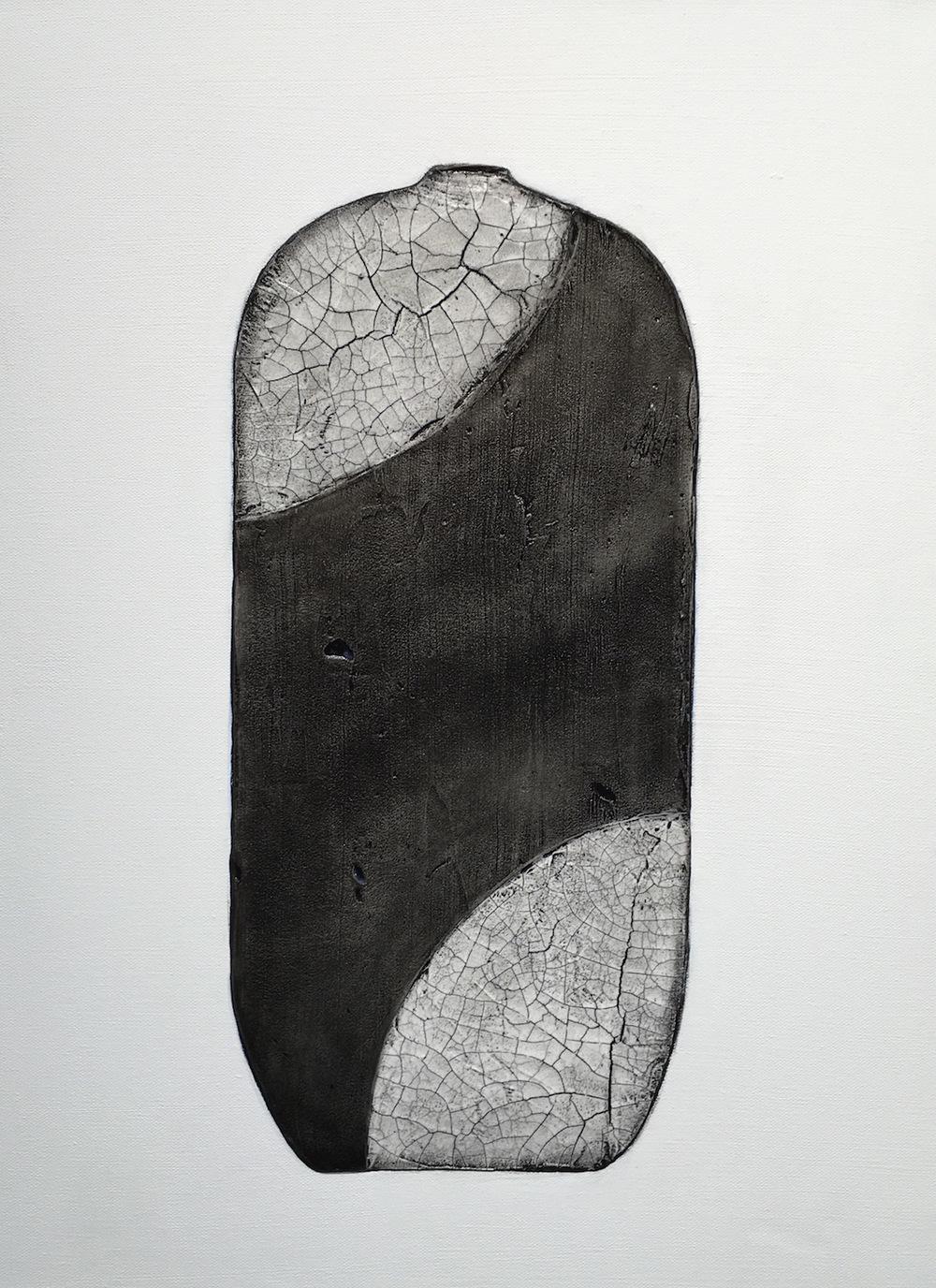 Raku Pottery Series IV Triptych-Terri Deskins