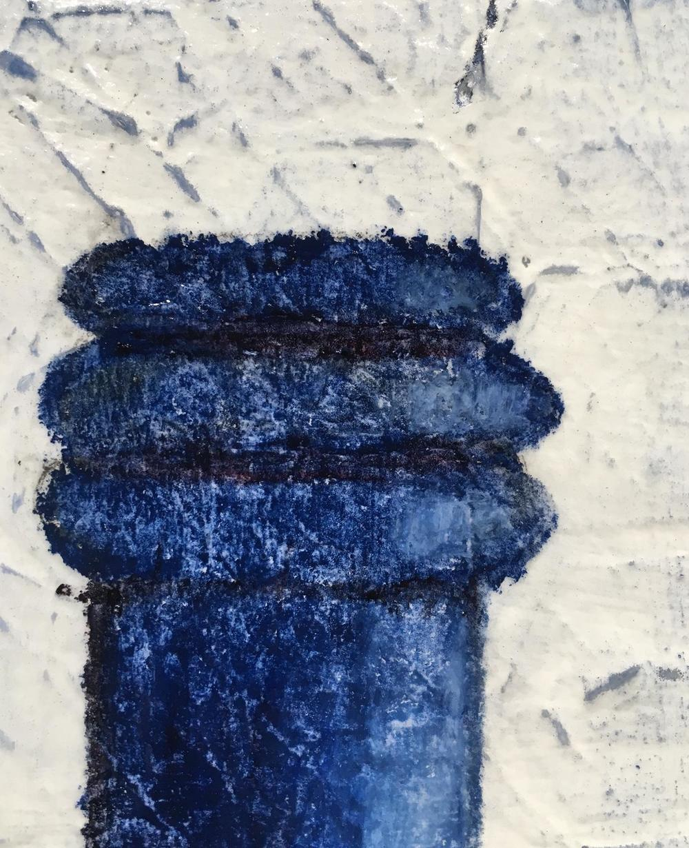 Bottle Blues painting detail