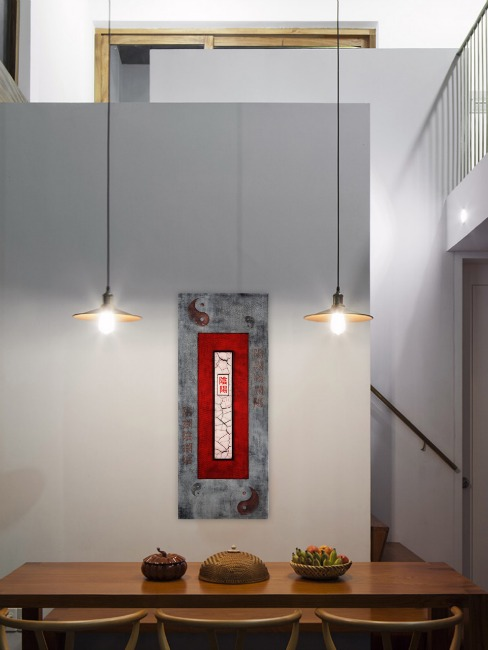 YinYang - asian abstract painting - Terri Deskins