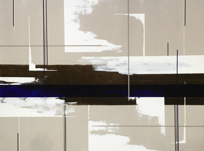 large modern art in neutral colors by Terri Deskins