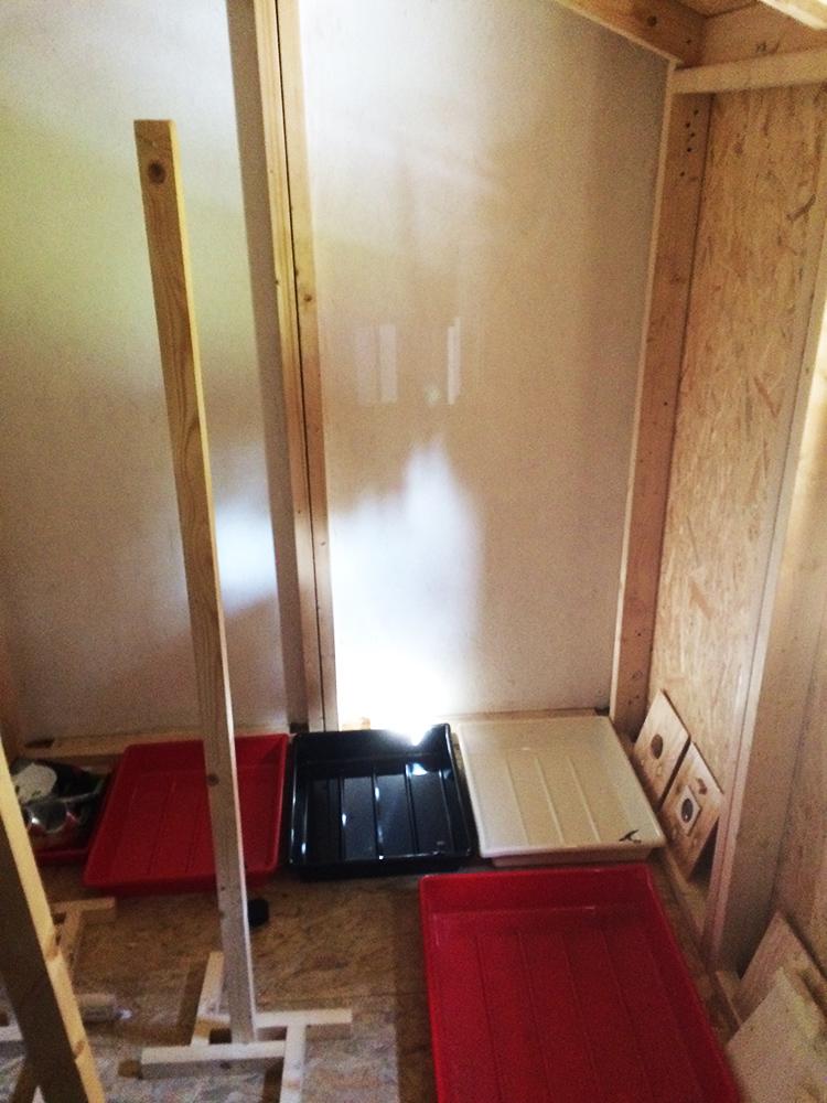 Mørkekammer installeret i installationen