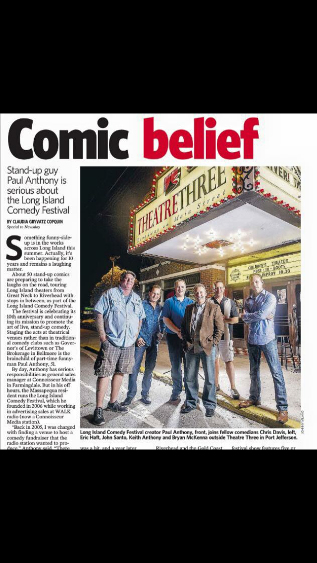 An article published by 'Newsday' featuring The Long Island Comedy Festival.