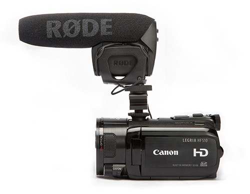The RØDE VideoMic is a great  shotgun microphone suitable for mounting on any camcorder.
