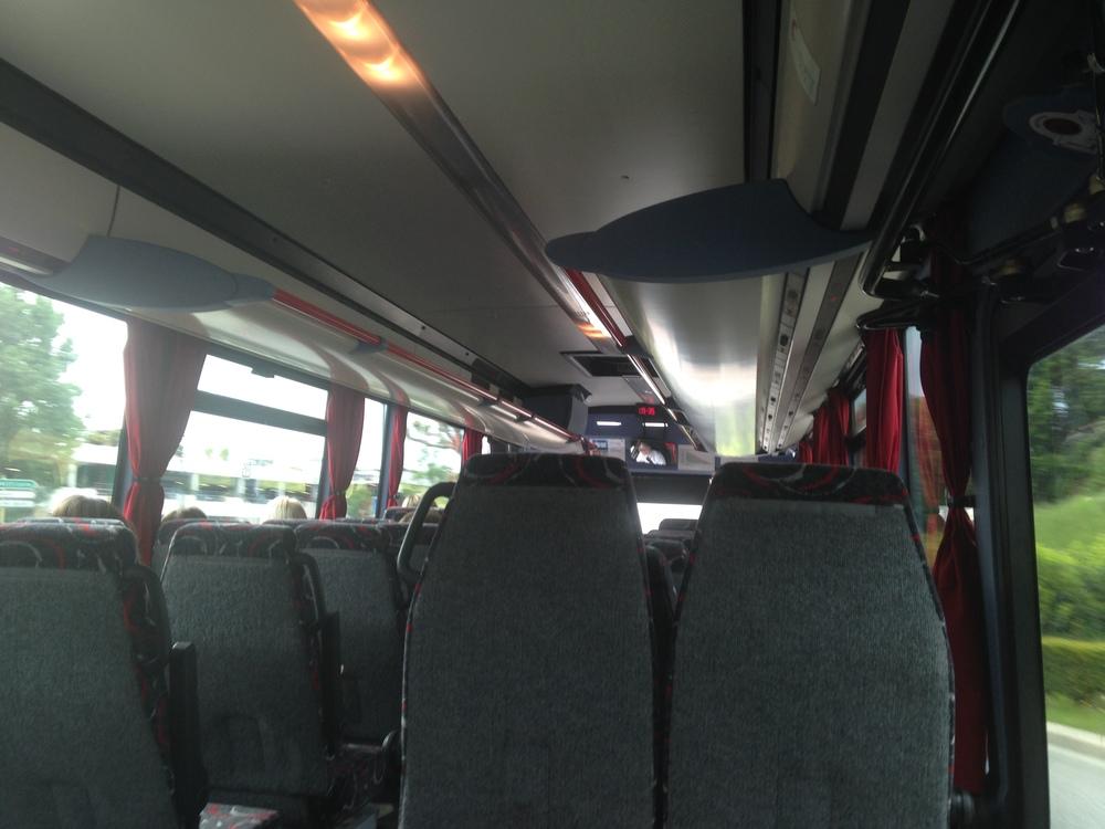Bus Genève-Annecy, France.