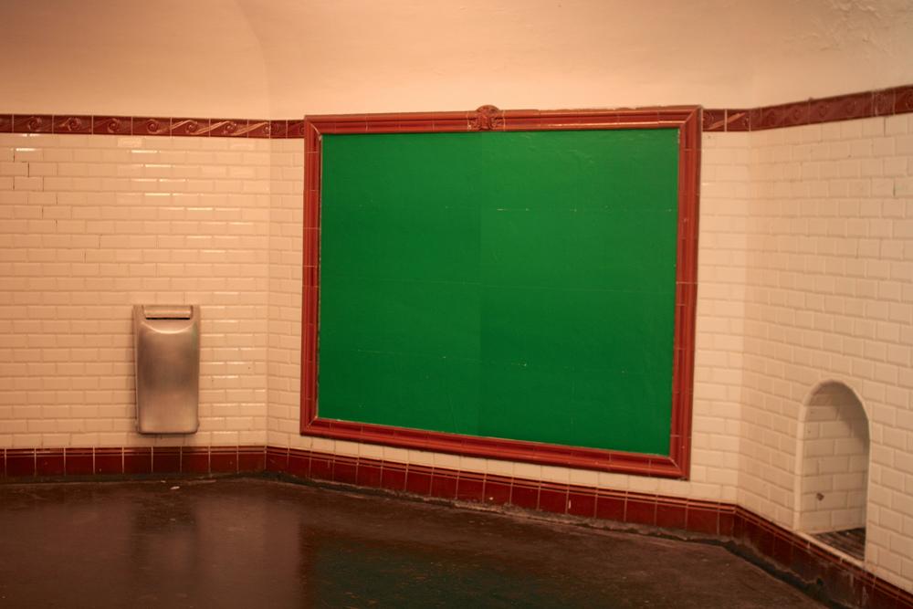 A blank billboard seen in Paris.