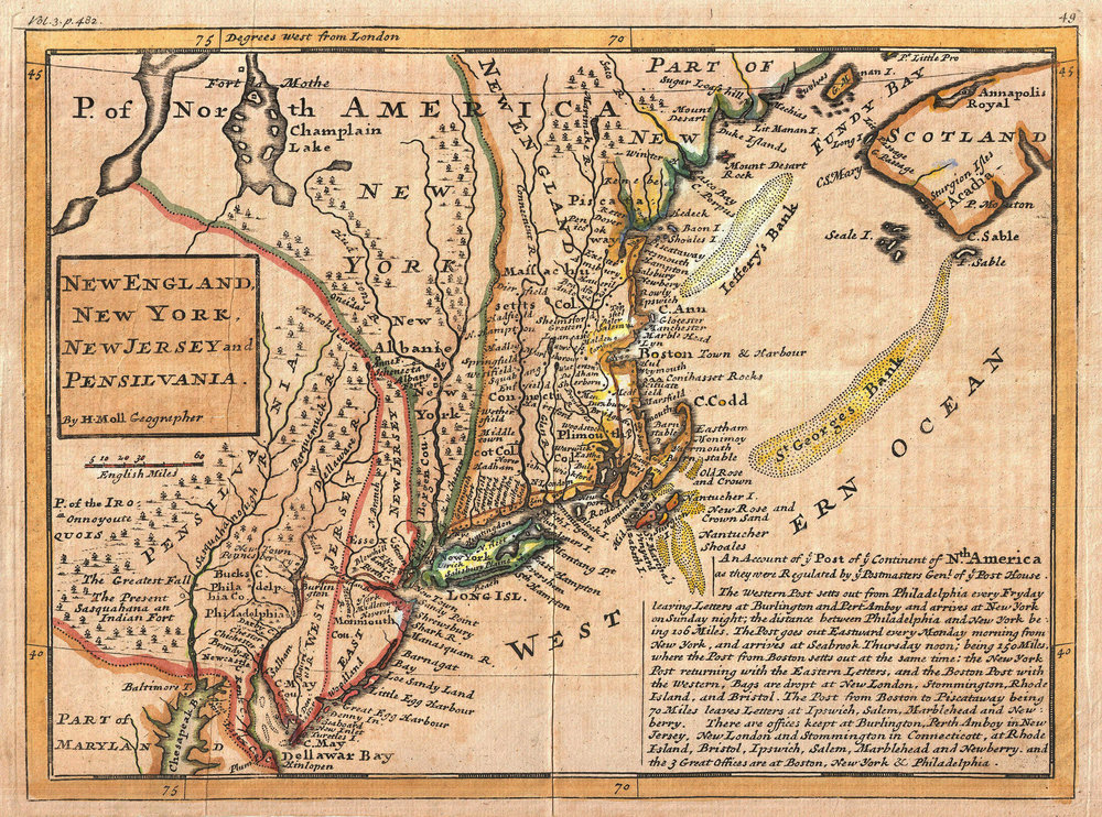 4 1729_Moll_Map_of_New_York,_New_England,_and_Pennsylvania_(First_Postal_Map_of_New_England)_-_Geographicus_-_NewEnglandNewYork-moll-1729.jpg