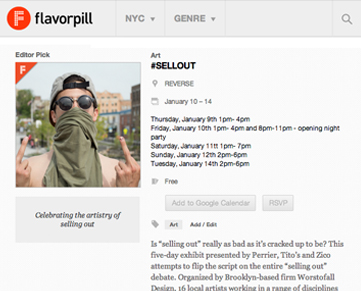 #SELLOUT on Flavorpill.jpg