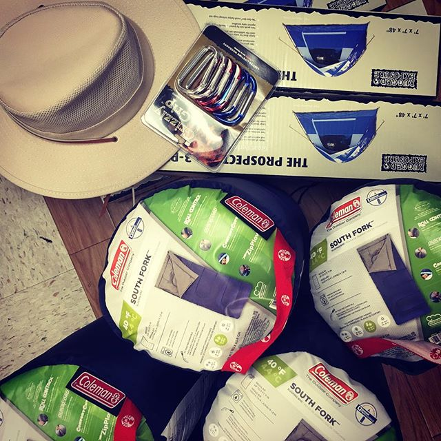 Thanks to generous donations.. We were able to get tents, sleeping bags, and a Father's Day sun hat for our dear friend Vito🍃😊 *and of course everybody can use a good carabiner!!