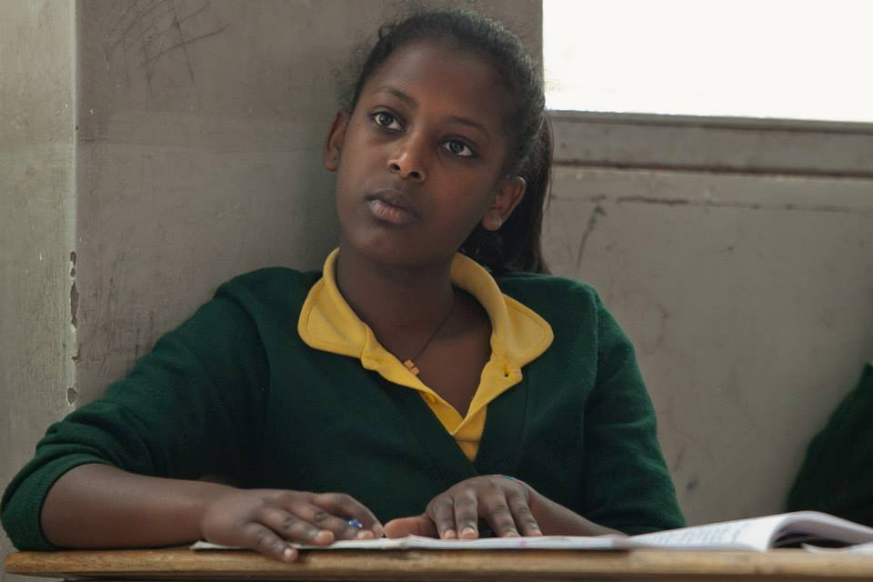 Tizita, 15, an STF Scholar in Ethiopia who shares my birthday and occasionally, this same semi-confused look. (Photo by Kate Lord.)